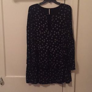 Free People Long Sleeve Floral Mini Dress Size S